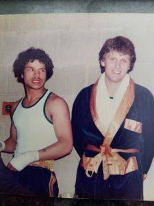 With fellow Hogarth boxer, Gary Hobbs.