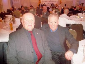 Old opponents and firm friends, Brian and Colin Lake